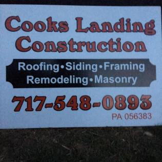 Cook's Landing Construction Roofing, Siding, Framing, Remodeling, Masonry, Lancaster, Peach Bottom, and Salem, PA